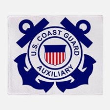 USCGAux-Logo-Bonnie Throw Blanket
