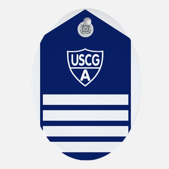 USCGAux-Rank-VCO-Board Oval Ornament