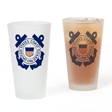 USCG-Logo-Blue-White Drinking Glass