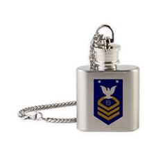 USCG-Rank-OSCM Flask Necklace