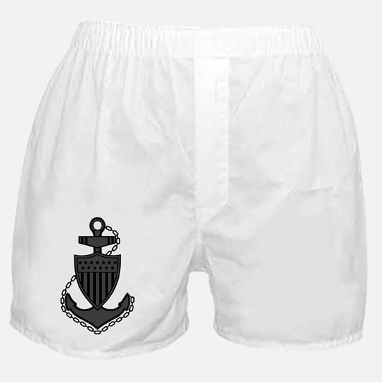 USCG-Rank-CPO-Anchor-Subdued-PNG Boxer Shorts
