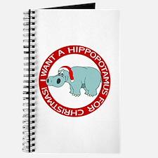 Christmas Hippo Journal