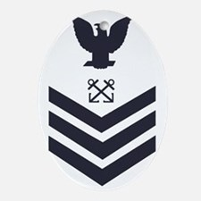 USCG-Rank-BM1-Crow-Subdued-Blue-PNG Oval Ornament