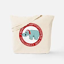 Christmas Hippo Tote Bag