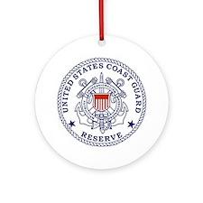 USCGR-Emblem-Red-Blue Round Ornament