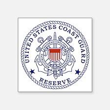 "USCGR-Emblem-Red-Blue Square Sticker 3"" x 3"""