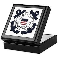 USCG-Logo-Blue-White-For-Blue-Crows Keepsake Box
