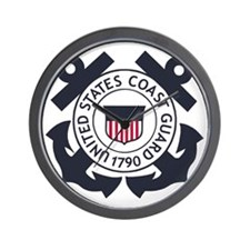 USCG-Logo-Blue-White-For-Blue-Crows Wall Clock