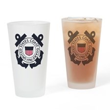 USCG-Logo-Blue-White-For-Blue-Crows Drinking Glass