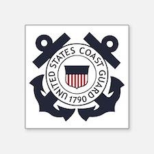 """USCG-Logo-Blue-White-For-Bl Square Sticker 3"""" x 3"""""""