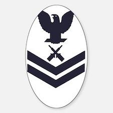 USCG-RANK-GM2-Blue-PNG Sticker (Oval)