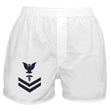 USCG-Rank-HS2-Crow-Subdued-Blue-PNG Boxer Shorts