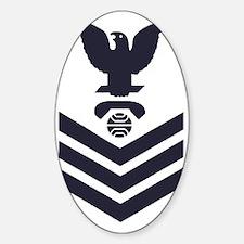 USCG-Rank-IT1-Blue-Crow-PNG Sticker (Oval)
