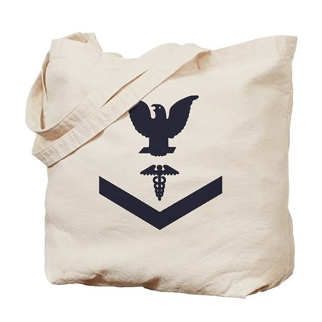 USCG-Rank-HS3-Crow-Subdued-Blue-PNG Tote Bag