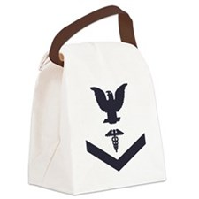 USCG-Rank-HS3-Crow-Subdued-Blue-P Canvas Lunch Bag