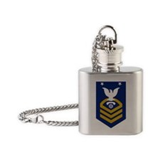 USCG-Rank-ITCM Flask Necklace