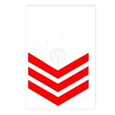 USCG-Rank-MST1-PNG Postcards (Package of 8)