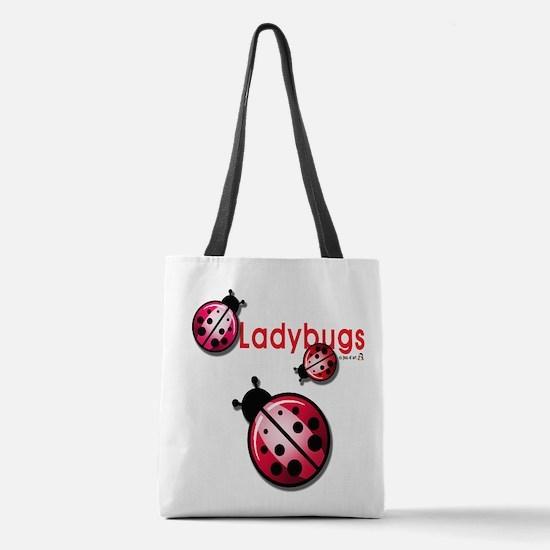 Ladybugs Polyester Tote Bag