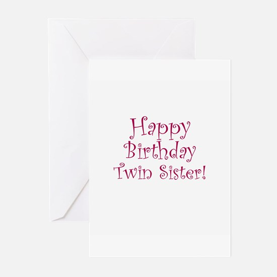 Happy Birthday Twin Sister Greeting Cards – Twin Sister Birthday Card