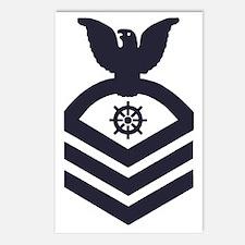 USCG-Rank-QMC-Blue-Crow-P Postcards (Package of 8)