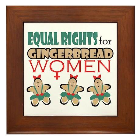 Gingerbread Women Framed Tile