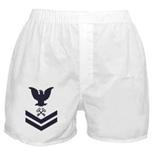 USCG-Rank-SK2-Blue-Crow-PNG Boxer Shorts