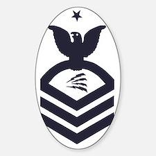 USCG-Rank-TCCS-Blue-Crow-PNG Sticker (Oval)