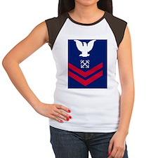 USCG-Rank-BM2-Tile Women's Cap Sleeve T-Shirt