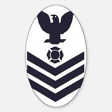 USCG-Rank-FI1-Blue-Crow-PNG Sticker (Oval)