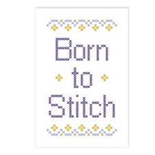 Born to Stitch Postcards (Package of 8)