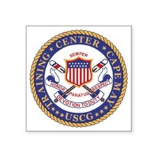 "USCG-TraCen-Cape-May Square Sticker 3"" x 3"""