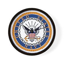 Navy-Emblem Wall Clock