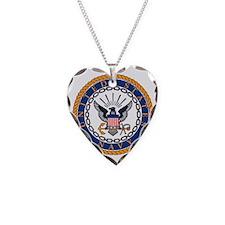 Navy-Emblem Necklace