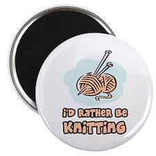 I'd Rather Be Knitting Magnet