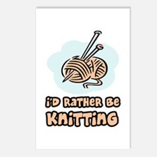 I'd Rather Be Knitting Postcards (Package of 8)