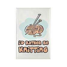 I'd Rather Be Knitting Rectangle Magnet