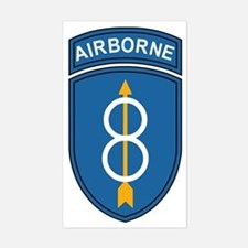 Army-8th-Infantry-Div-Airborne Sticker (Rectangle)