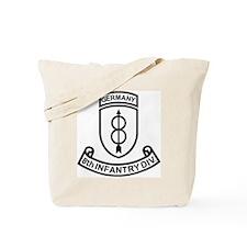 Army-8th-Infantry-Div-Germany-Scroll-Blac Tote Bag