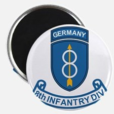 Army-8th-Infantry-Div-Germany-Scroll Magnet