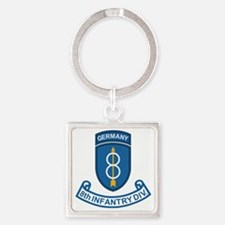 Army-8th-Infantry-Div-Germany-Scro Square Keychain