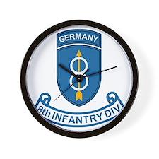 Army-8th-Infantry-Div-Germany-Scroll Wall Clock