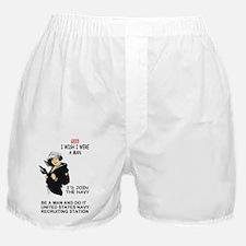 Navy-Rank-PO2-Poster-I-Wish Boxer Shorts