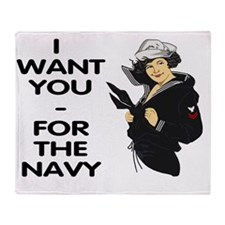 Navy-Rank-PO2-Calendar-I-Want-You Throw Blanket