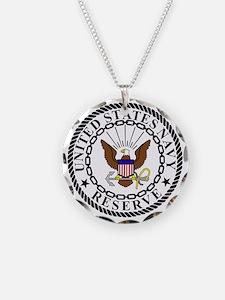USNR-Navy-Reserve-Emblem-Bla Necklace