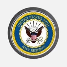 USNR-Navy-Reserve-Emblem Wall Clock