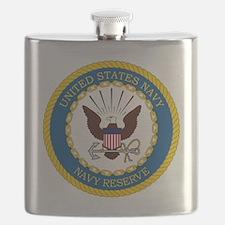 USNR-Navy-Reserve-Emblem Flask
