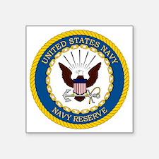 "USNR-Navy-Reserve-Emblem Square Sticker 3"" x 3"""