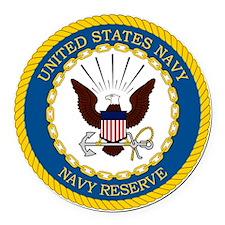 USNR-Navy-Reserve-Emblem Round Car Magnet
