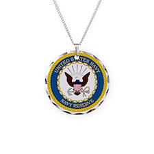 USNR-Navy-Reserve-Emblem Necklace Circle Charm