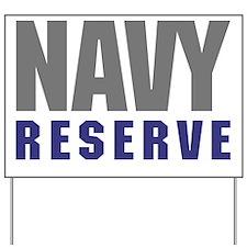 USNR-Navy-Reserve-Text-Shirt Yard Sign